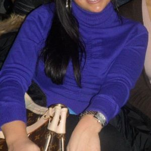Express turtleneck purple small with ruching